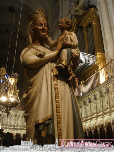 Why is the White Virgin laughing? A legend of Toledo Cathedral