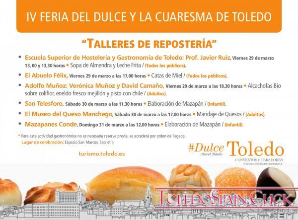IV Feria del Dulce in Toledo, from 29 to 31 March 2019