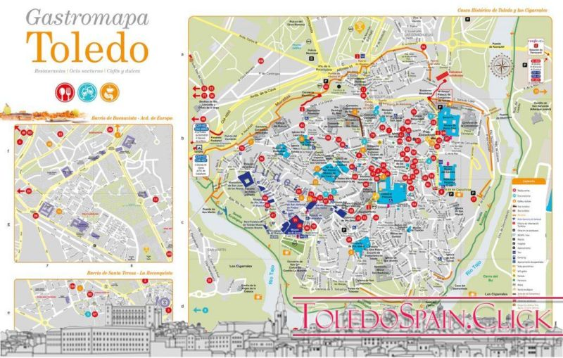 Tourist map of Toledo 2019