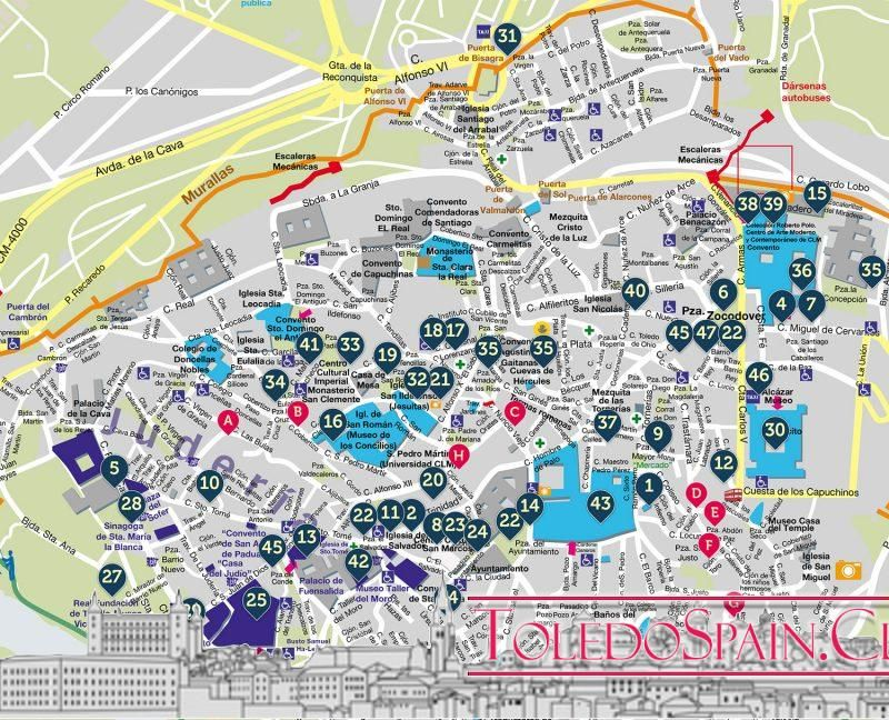 Tourist map of Toledo 2019