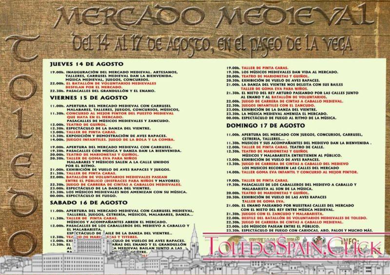 2014 Fair and Fiestas Program in honor of the Virgen del Sagrario in Toledo