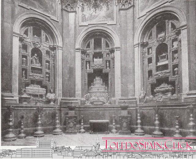 The relics of Toledo Cathedral
