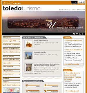 """New """" official"""" website dedicated to tourism in Toledo."""